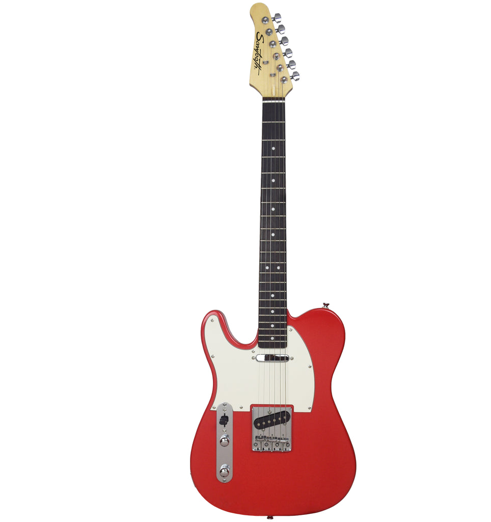 Sawtooth Classic ET 60 Ash Body Left-Handed Electric Guitar, Habanero with White Pickguard