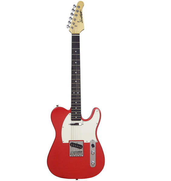 Sawtooth Classic ET 60 Ash Body Electric Guitar, Habanero