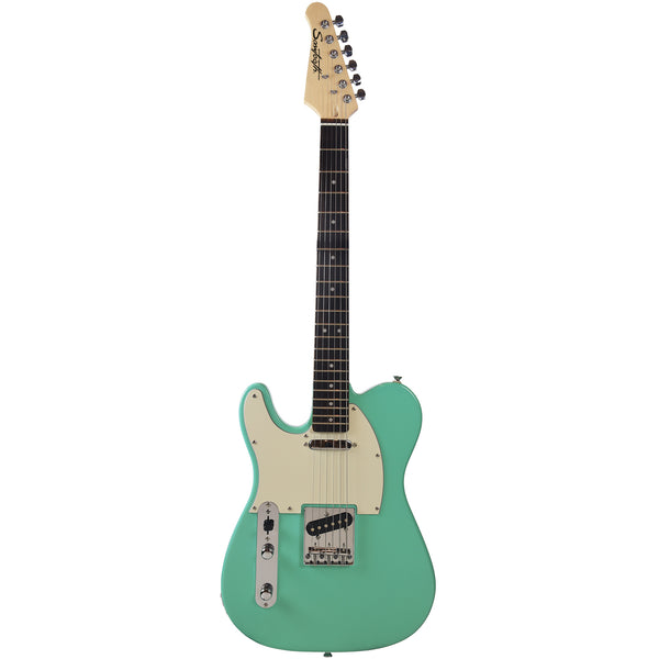 Sawtooth Classic ET 60 Ash Body Left-Handed Electric Guitar, Surf Green