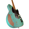 Sawtooth Americana Relic Series ET Electric Guitar with Pro Series Strat/Tele Body Style Hard Case, Surf Green with Tortoise Pickguard
