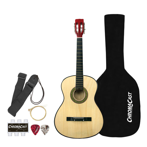 Rise by Sawtooth Petite Size Steel String Acoustic Guitar Beginner's Pack,  Natural