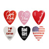 ChromaCast Heart Shaped Picks: Medium 12 Pack