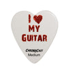 "ChromaCast ""I Love My Guitar"" Heart Shaped Pick 12 Pack in Light, Medium and Heavy Gauge"