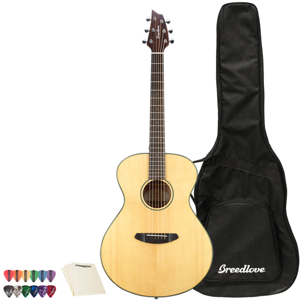 Breedlove Discovery Concert LH Sitka-Mahogany Acoustic Guitar with Accessories