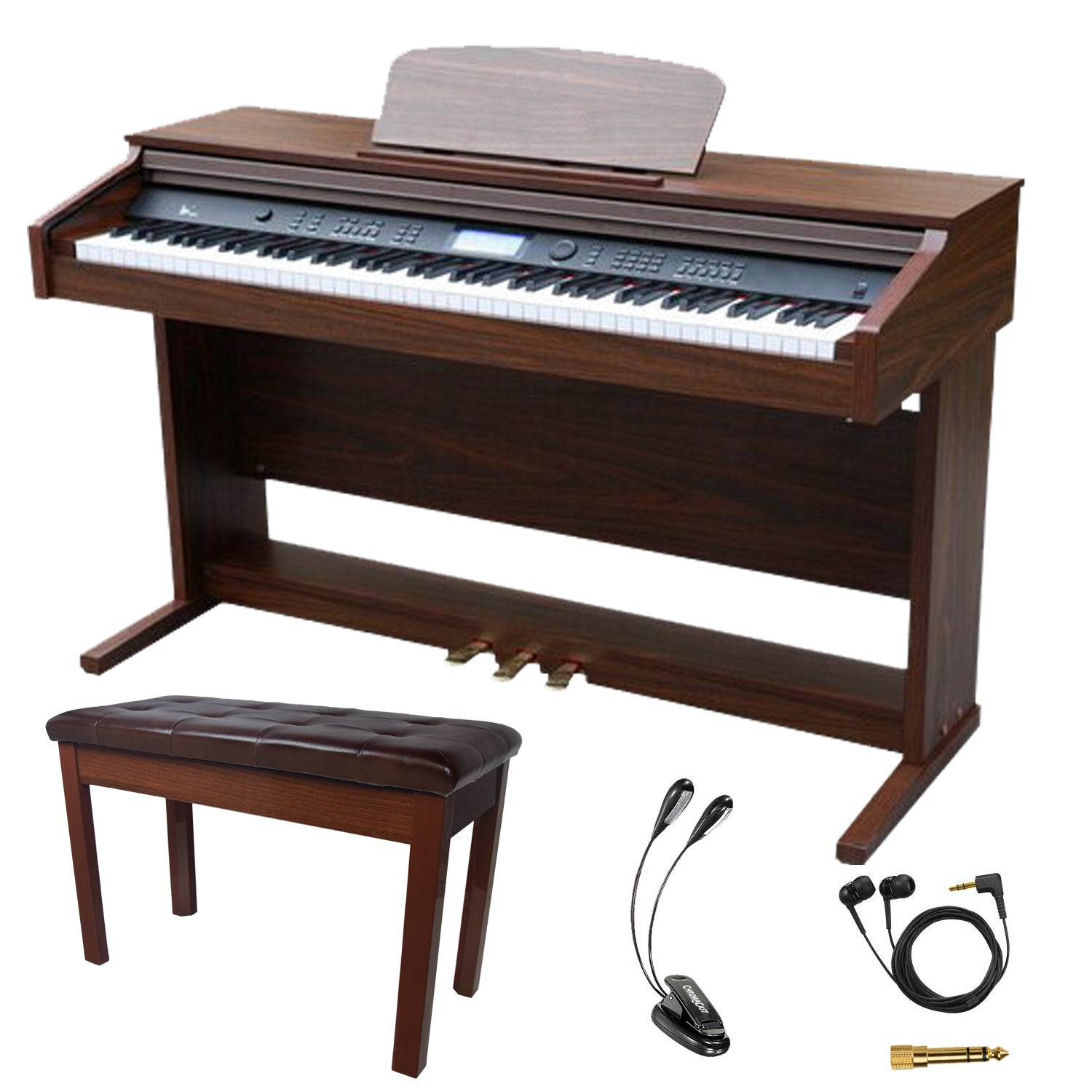 sawtooth 88 key digital console piano with weighted keys and accessori godpsmusic. Black Bedroom Furniture Sets. Home Design Ideas