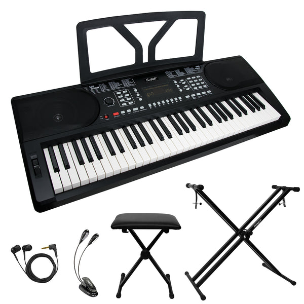 Sawtooth 61-Key Portable Keyboard with Accessories