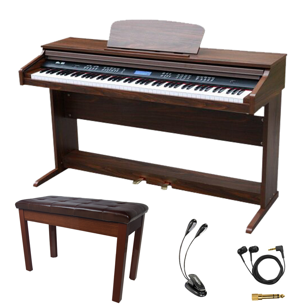 Sawtooth 88-Key Digital Console Piano with Bench & Accessories