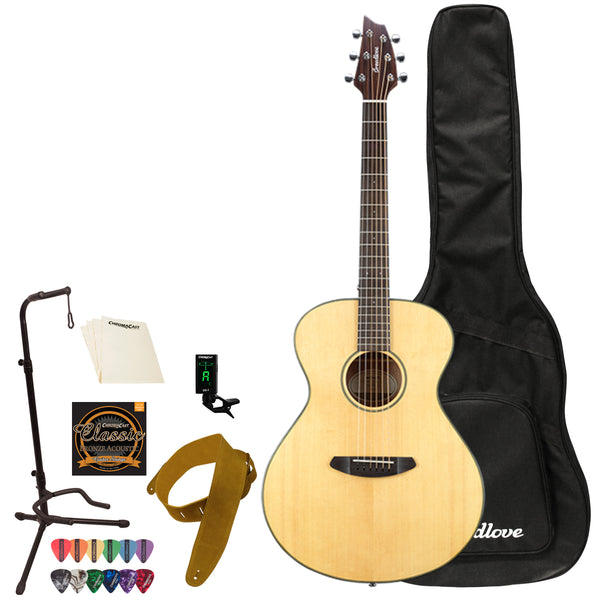 Breedlove Discovery Concert LH Sitka-Mahogany Acoustic Guitar with Gig Bag & Accessories