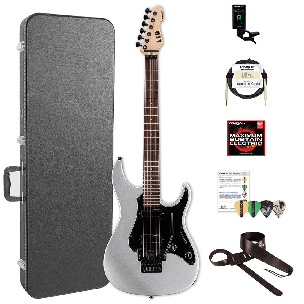 ESP/LTD SN Series SN-200FR ROSEWOOD Electric Guitar with ChromaCast Hard Case & Accessories