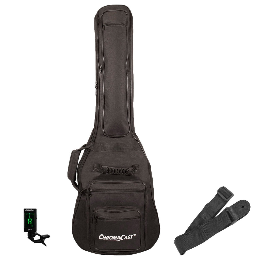 ChromaCast Electric Guitar Padded Gig Bag with Tuner & Nylon Guitar Strap