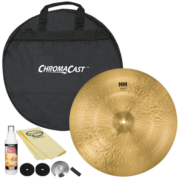 "Sabian 18"" HH Vanguard Crash with ChromaCast Cymbal Bag & Accessories"