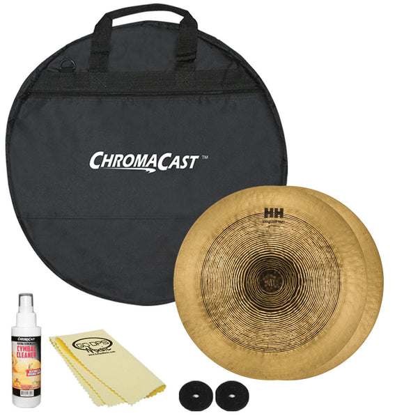 Sabian 14 HH Vanguard Hats with ChromaCast Cymbal Bag & Accessories