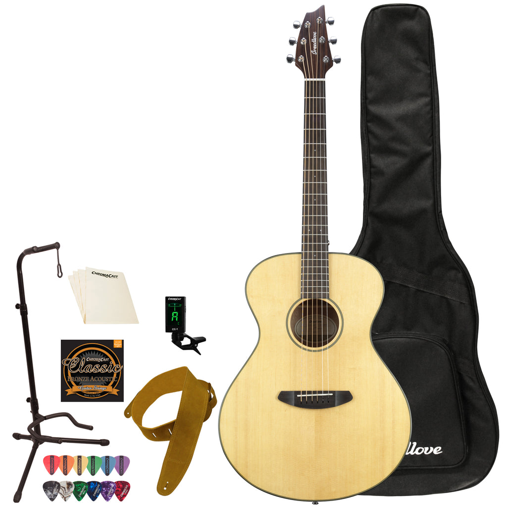 Breedlove Discovery Concert Acoustic Guitar with Gig Bag & Accessories