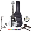 ESP LTD James Hetfield Signature Iron Cross Graphic & Snow White Finish Electric Guitar w/ Accessories & ESP Hard Case