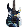 ESP LTD KH-WZ Kirk Hammett Signature White Zombie Graphic Electric Guitar with Gig Bag & Accessories