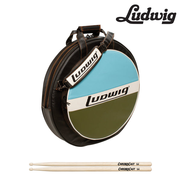 "Ludwig Atlas Classic 22"" Cymbal Bag Kit (LXC1BO) Includes: ChromaCast 5A Drumsticks"