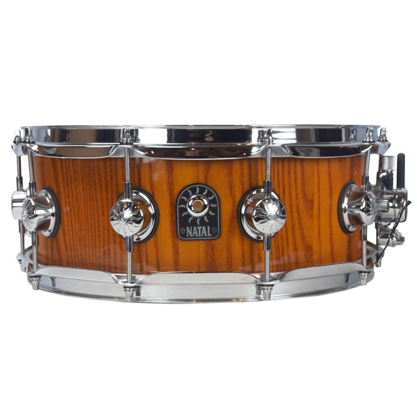 "Natal 14""x5.5"" Stave Ash Snare Drum, Amber"