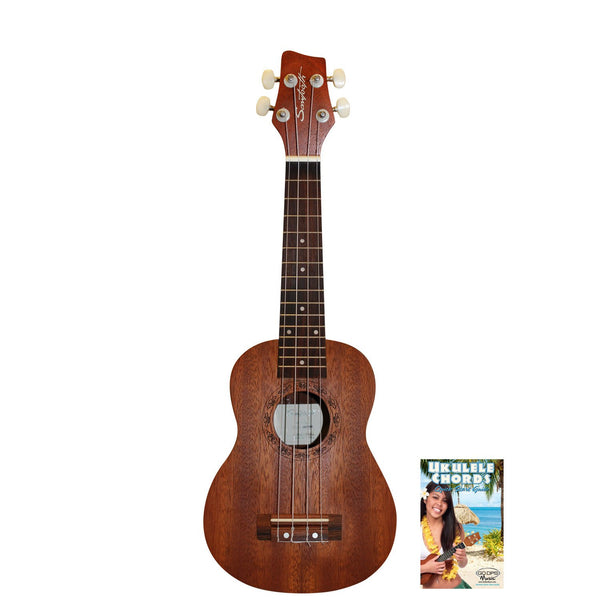 Sawtooth Mahogany Soprano Ukulele with Ukulele Quick Start Guide