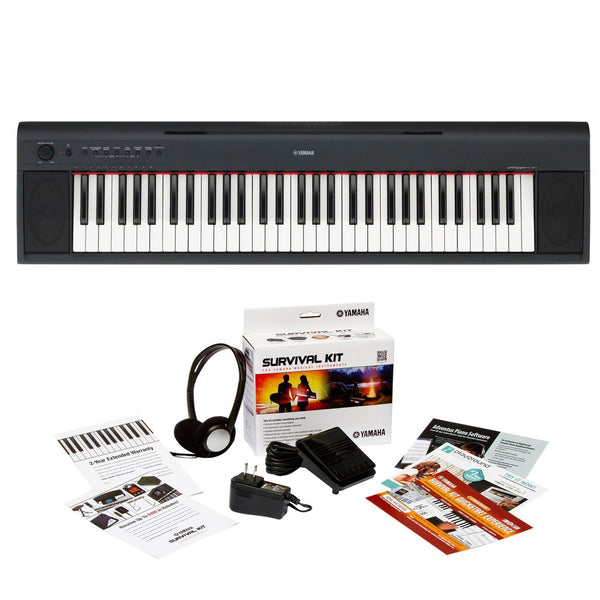 Yamaha NP11 61 Key Portable Electronic Keyboard & Keyboard Survival Guide
