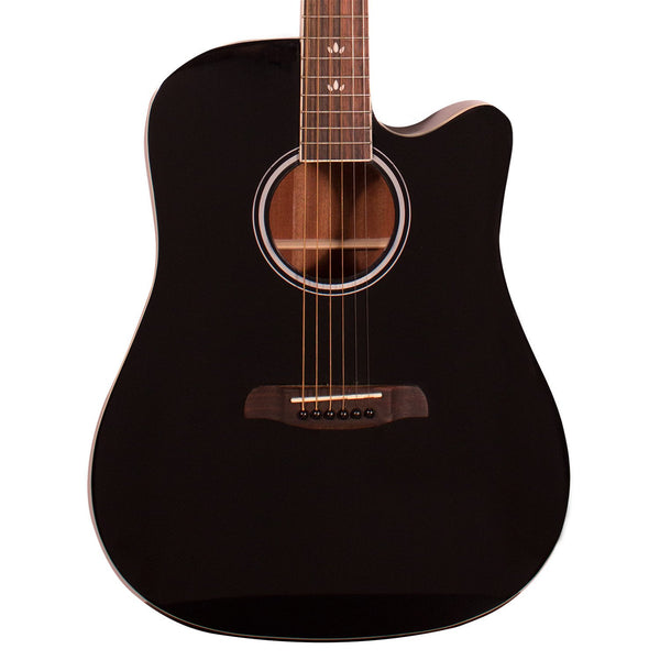 Sawtooth Acoustic-Electric Dreadnought Cutaway, Black