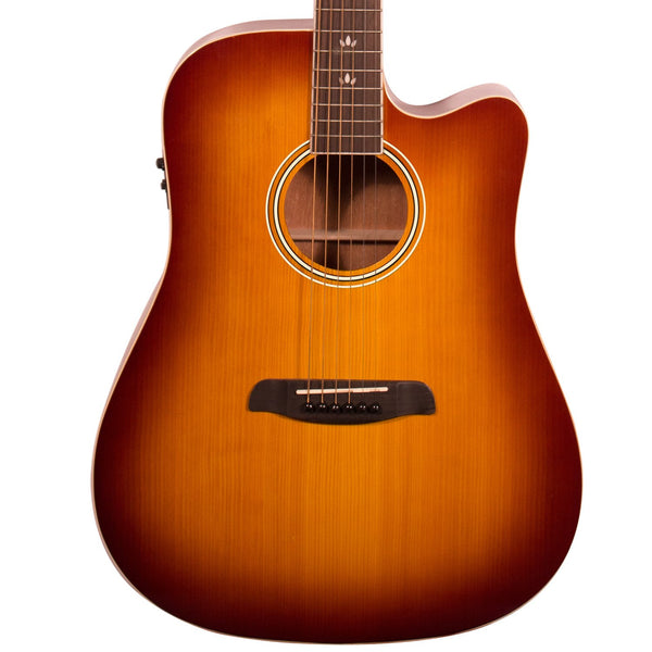 Sawtooth Solid Top Acoustic-Electric Dreadnought Cutaway, Vintage Burst