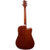 Sawtooth Left Handed Solid Top Acoustic-Electric Dreadnought Cutaway, Vintage Burst