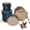 "Sawtooth Command Series 4-Piece Drum Shell Pack with 16"" Bass Drum, Blue Mirror Metallic"