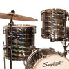 "Sawtooth Command Series 4-Piece Drum Shell Pack with 16"" Bass Drum, Mirror"
