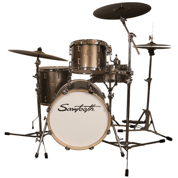 "Sawtooth Command Series 4-Piece Drum Shell Pack with 18"" Bass Drum, Champagne"