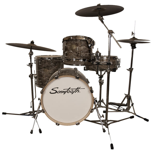 "Sawtooth Command Series 4-Piece Drum Shell Pack with 18"" Bass Drum, Marble"