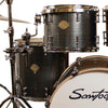 "Sawtooth Command Series 5-Piece Drum Shell Pack with 22"" Bass Drum, Silver Streak"