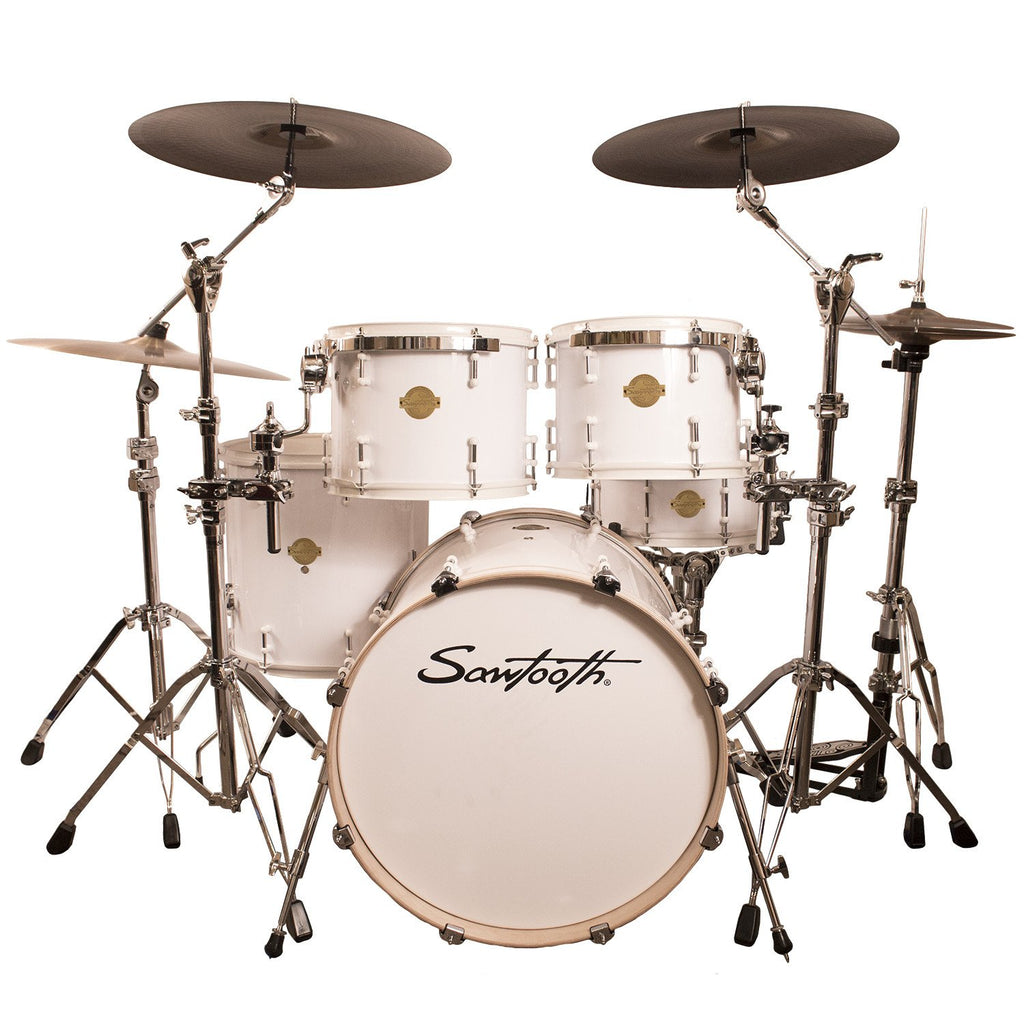 "Sawtooth Command Series 5-Piece Drum Shell Pack with 22"" Bass Drum, White"