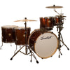 "Sawtooth Command Series 6-Piece Drum Shell Pack with 24"" Bass Drum, Red Streak"