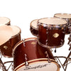 "Sawtooth Command Series 6-Piece Drum Set with 24"" Bass Drum, ChromaCast Hardware & Zildjian S Family Cymbals, Red Streak"