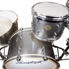 "Sawtooth Command Series 6-Piece Drum Shell Pack with 24"" Bass Drum, Silver Sparkle"