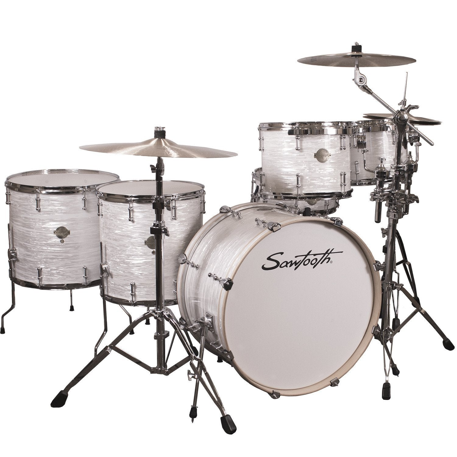 ChromaCast Hardware Sawtooth Command Series 6 Piece Drum Set With 24 Bass