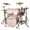 "Sawtooth Command Series 7-Piece Drum Shell Pack with 22"" Bass Drum, ChromaCast Hardware & Zildjian S Family Cymbals, White"