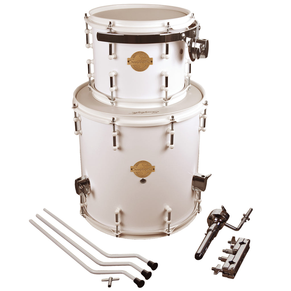 "Sawtooth Command Extension Tom Pack, 8"" Tom & 14"" Floor Tom, White"
