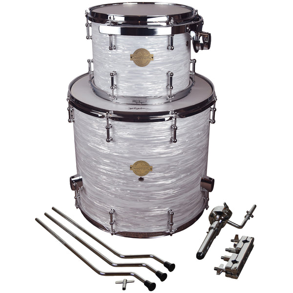 "Sawtooth Command Extension Tom Pack, 9"" Tom & 16"" Floor Tom, White Oyster"