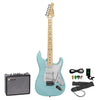 Sawtooth Daphne Blue ES Series Electric Guitar w/ Pearl White Pickguard - Includes: Accessories & 10-Watt Amp