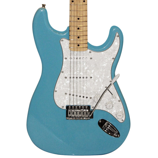 Sawtooth Classic ES 60 Series Alder Body Electric Guitar - Classic Aero Blue with Pearl 3-Ply Pickguard