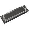 Sawtooth Screamer Chrome Plated Harmonica, Key of F with Case and Cloth