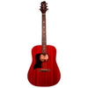 Sawtooth Left Handed Modern Vintage Dreadnought Acoustic Guitar, Trans Cherry Mahogany