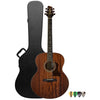Sawtooth Mahogany Series Jumbo Acoustic Electric Guitar with ChromaCast Hard Case & Pick Sampler