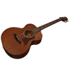 Sawtooth Mahogany Series Mini Jumbo Acoustic Electric Guitar with ChromaCast Hard Case & Pick Sampler