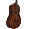 Sawtooth Mahogany Series Parlor Acoustic Electric Guitar with ChromaCast Hard Case & Pick Sampler