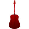 Sawtooth Modern Vintage Dreadnought Acoustic Guitar, Trans Cherry Mahogany