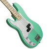 Sawtooth Left-Handed EP Series Electric Bass Guitar with Gig Bag & Accessories, Surf Green w/ Pearl Pickguard