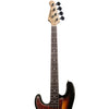 Sawtooth Left-Handed EP Series Electric Bass Guitar with Gig Bag & Accessories, Vintage Burst w/ Tortoise Pickguard