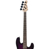 Sawtooth EP Series Electric Bass Guitar, Trans Purple